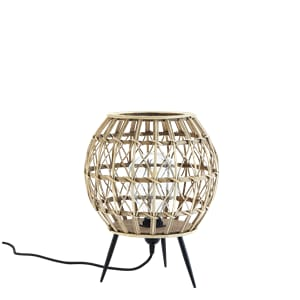 Madam Stoltz Rattan Table Lamp