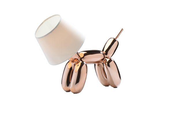 Nordium Copper Balloon Dog Table Lamp