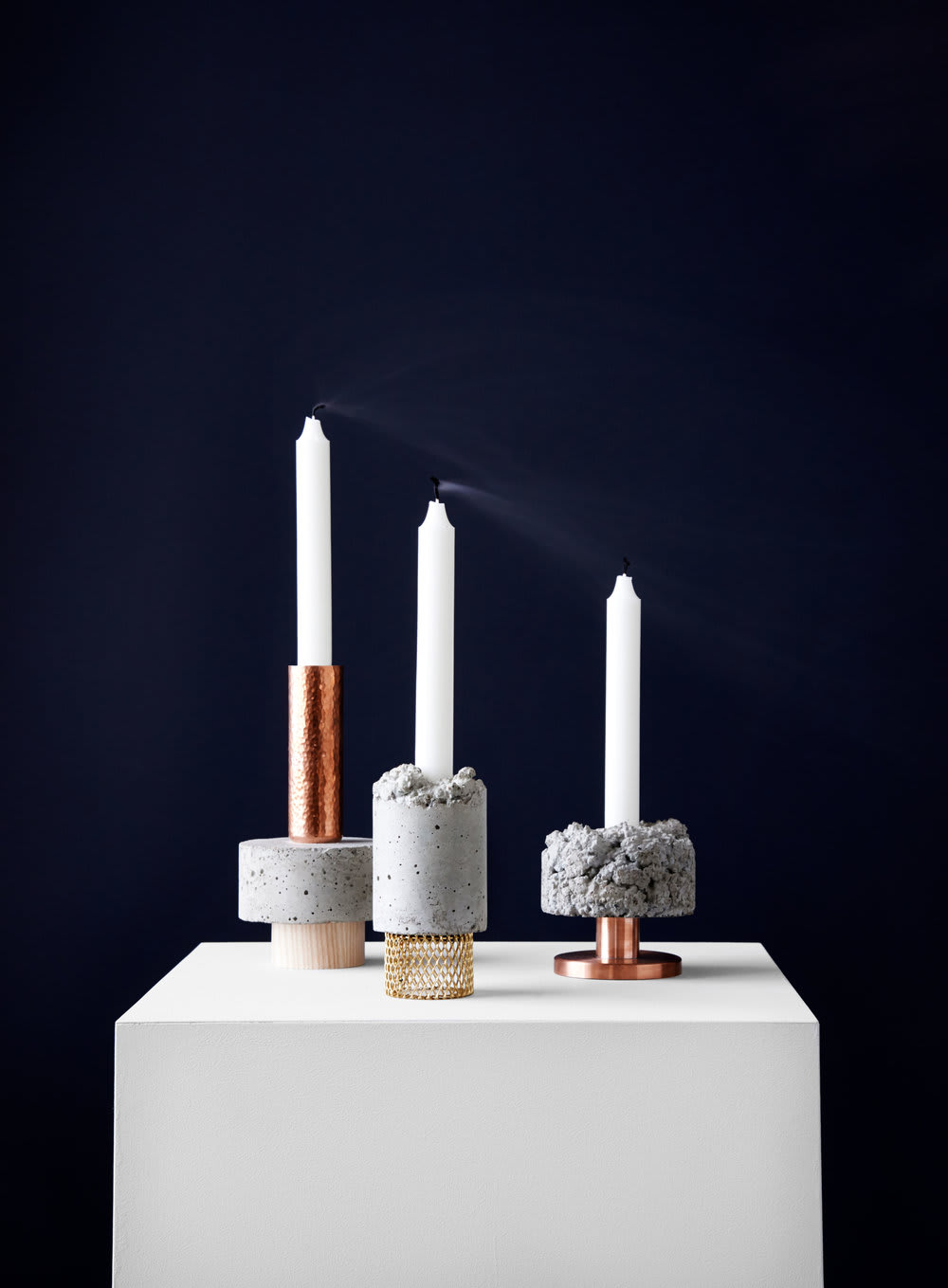 New Works Tall Stuart Crowd Candle Holder