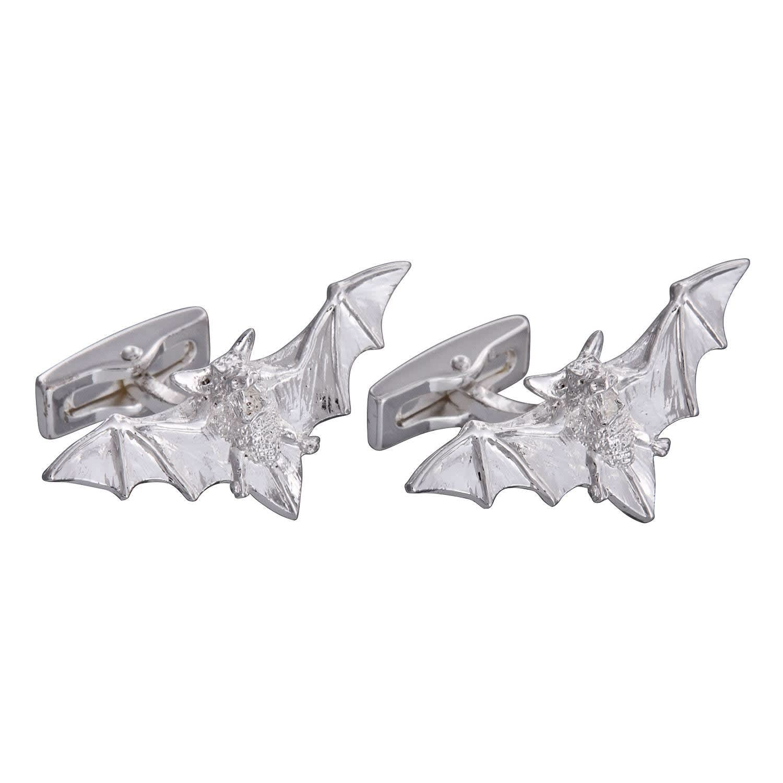 Gresham Blake Silver Bat Cufflinks