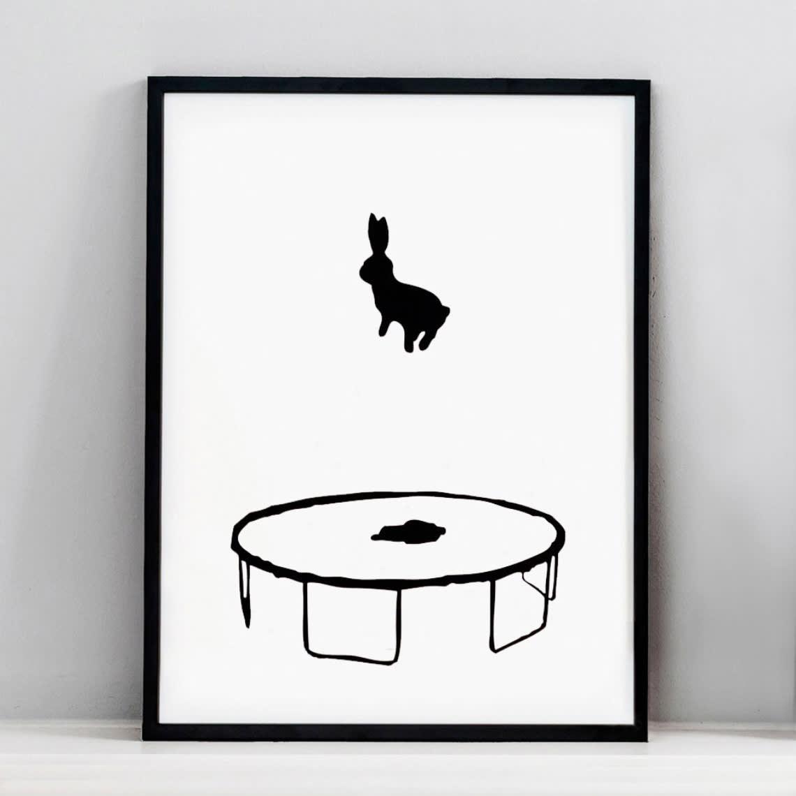 HAM Bouncing Rabbit Screen Print