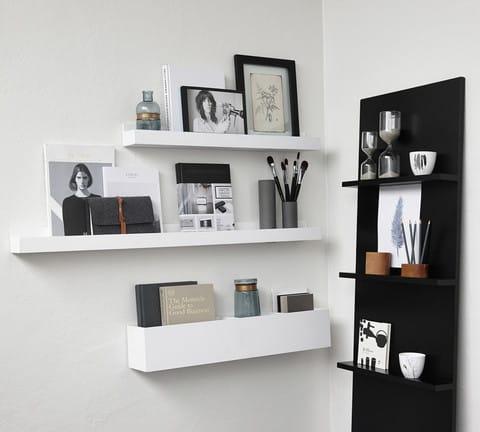 White Wooden Shelf - 80cm