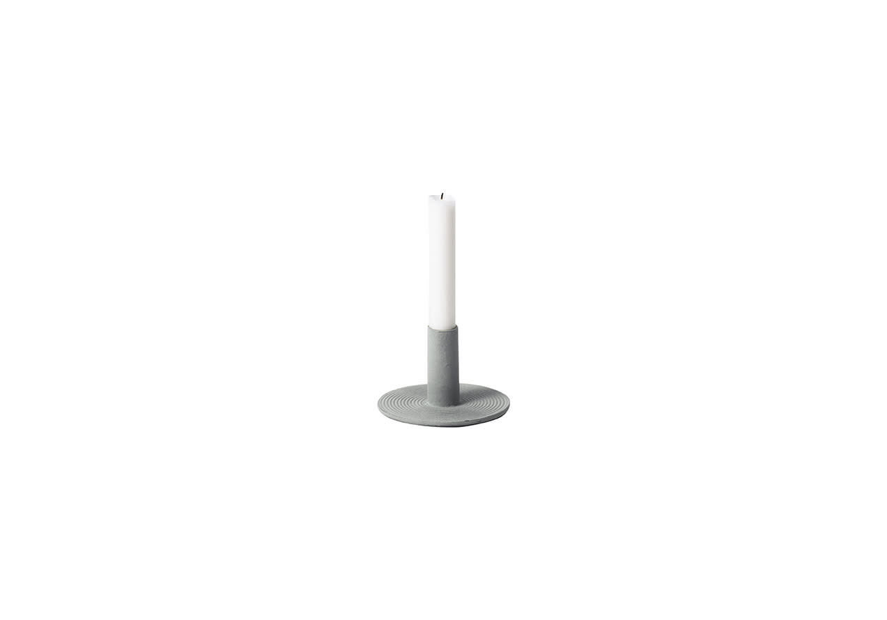 Ferm Living Dusty Green Cast Iron Candle Holder