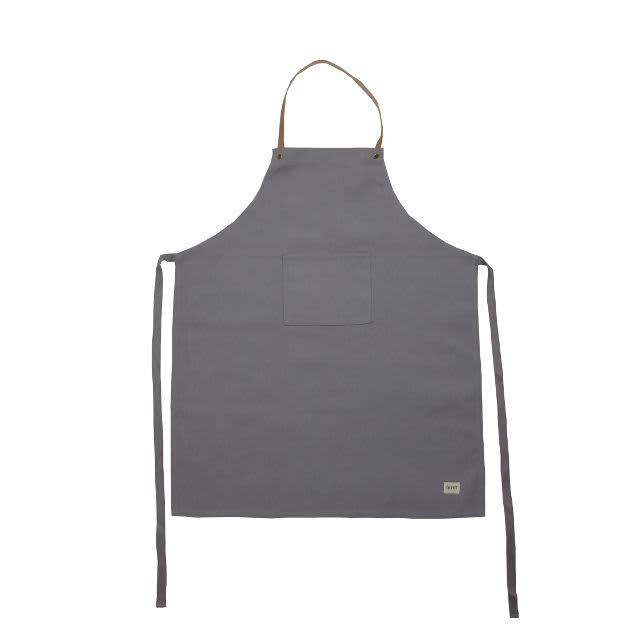 Ferm Living Grey Organic Cotton & Leather Apron