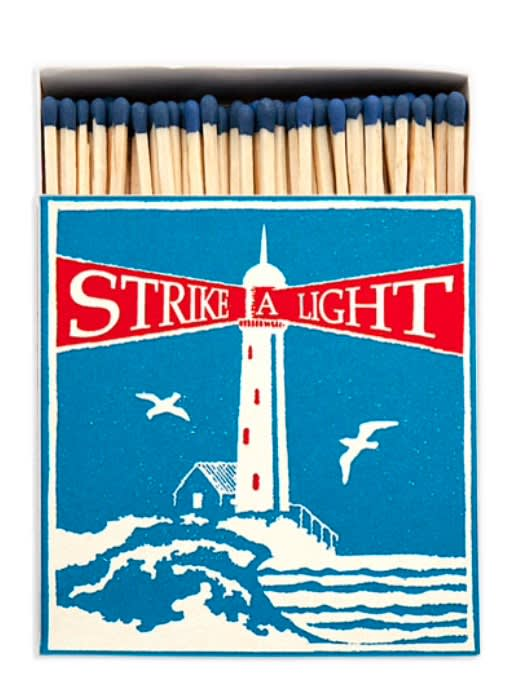 Archivist Strike A Light Luxury Matches In A Square Box With A Lighthouse On The Front