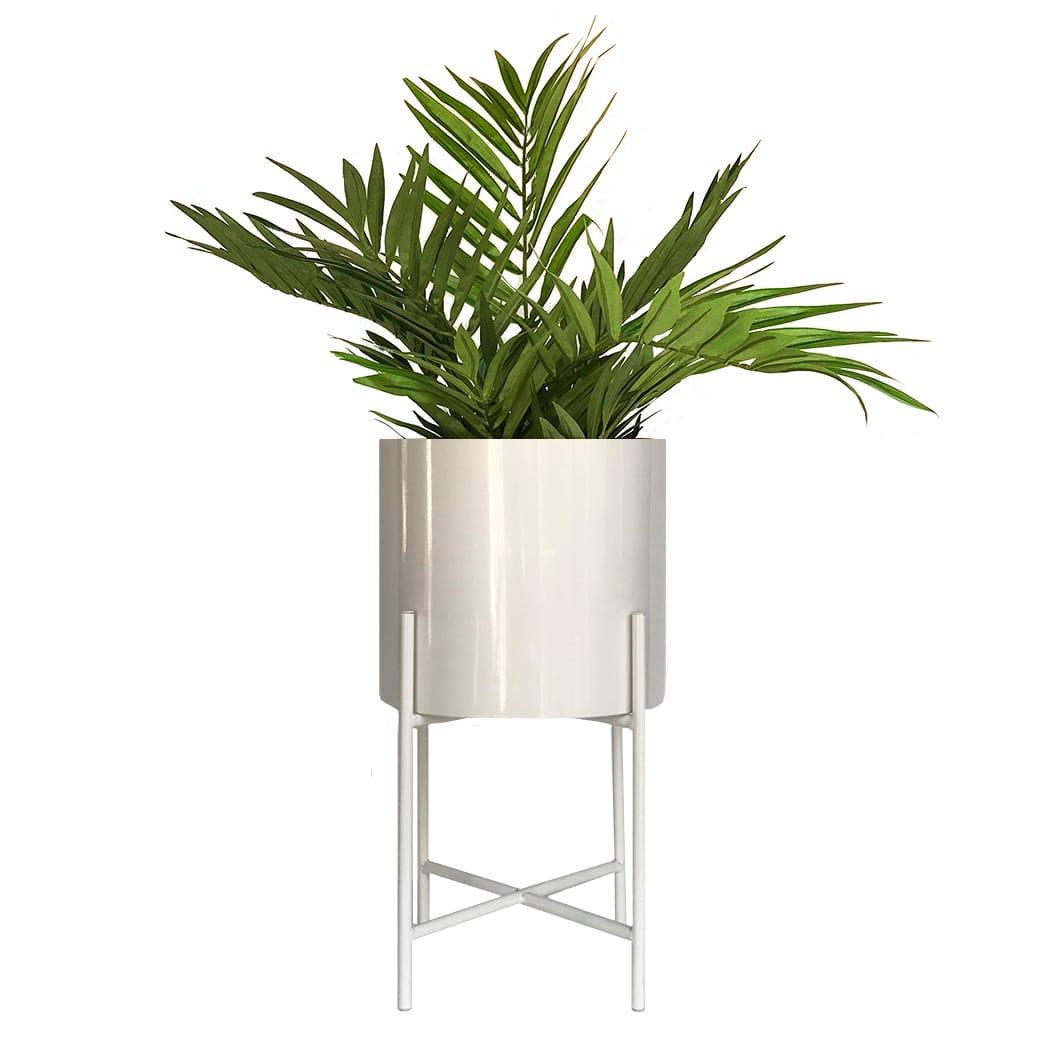 Hubsch Medium White Metal Planter