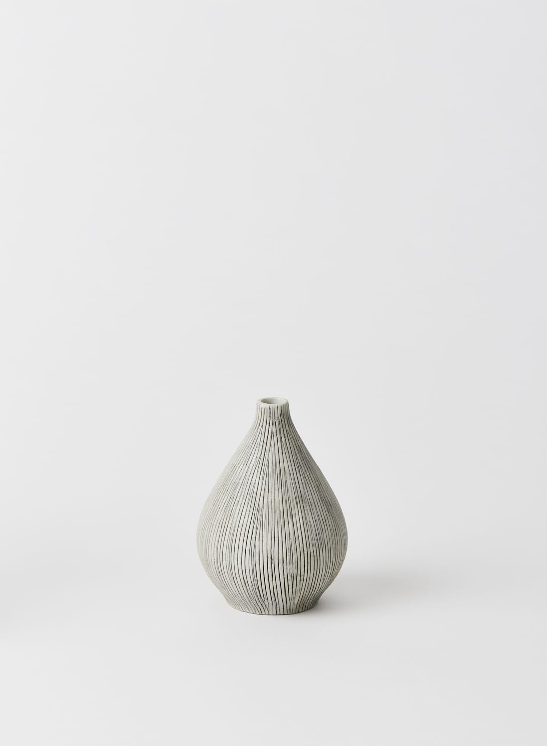 Lindform Kobe Grey Striped Bud Vase