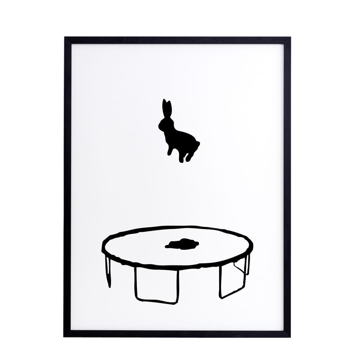 HAM Bouncing Rabbit Framed Print