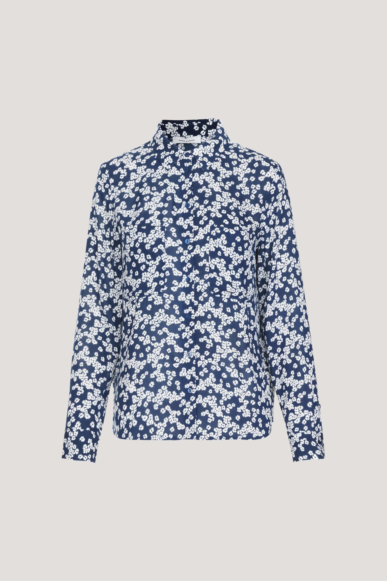 Samsoe & Samsoe Daisy Blue Print Milly Shirt
