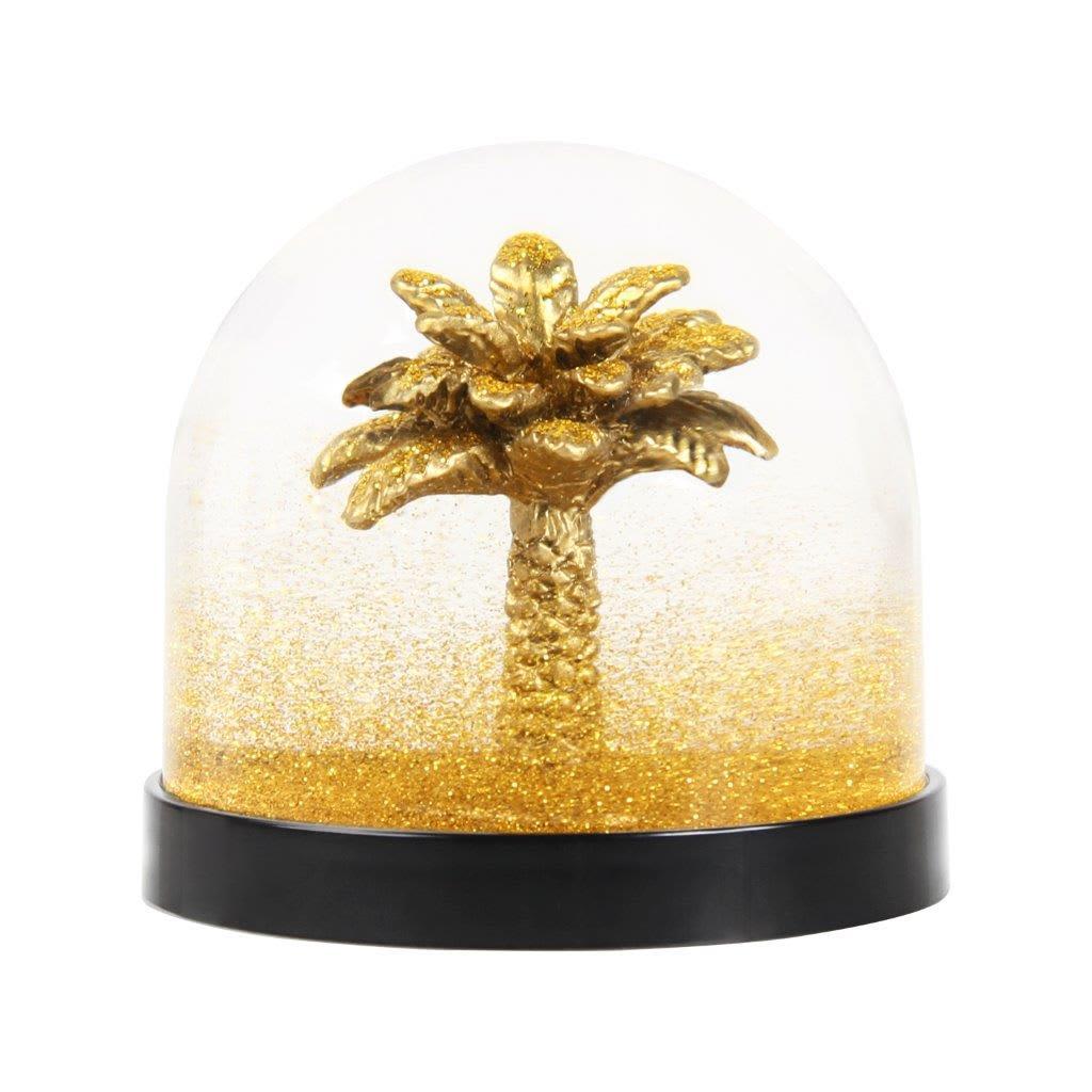 &klevering Gold Palm Tree Snow Globe