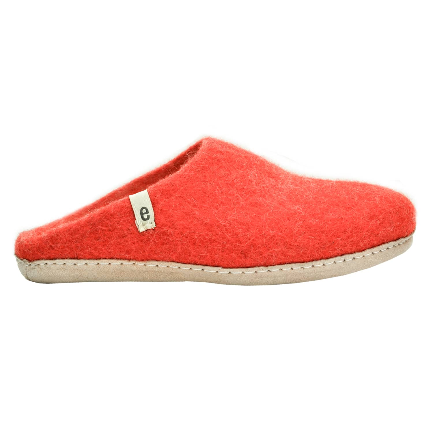 Egos Copenhagen Rusty Red Handmade 100% Wool Felted Slippers