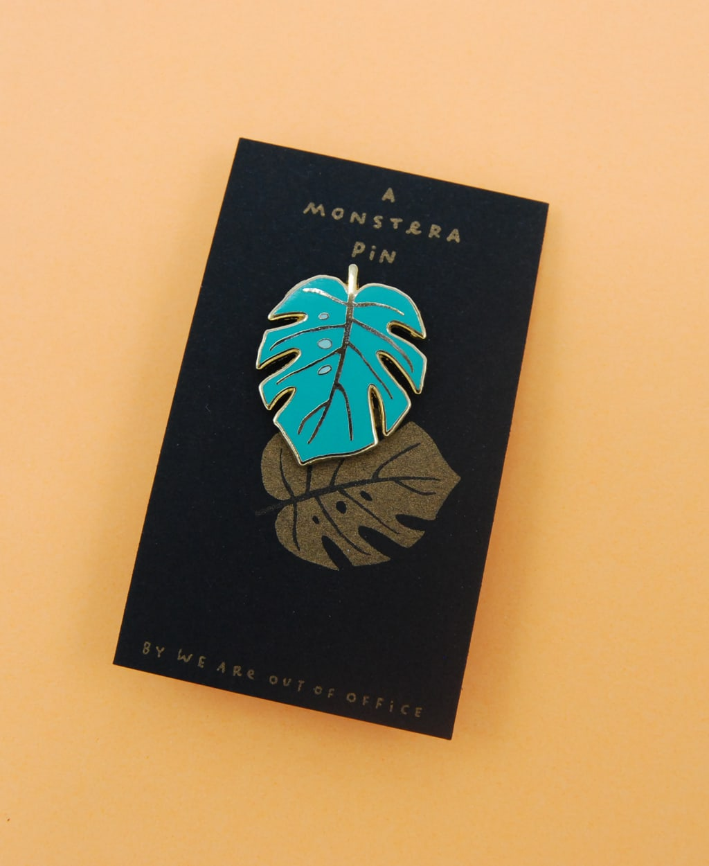 We are out of office  Monstera Pin