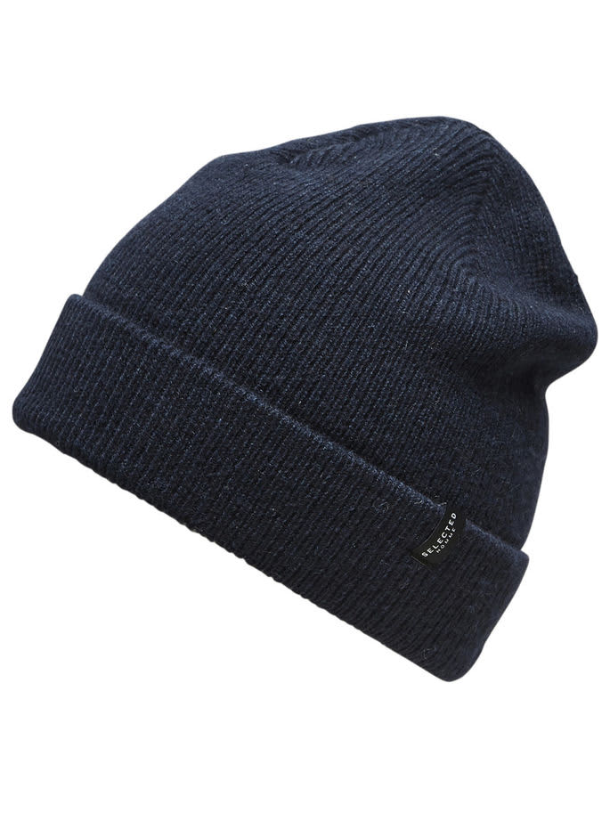 Selected Homme In Dark Sapphire New Wool Beanie