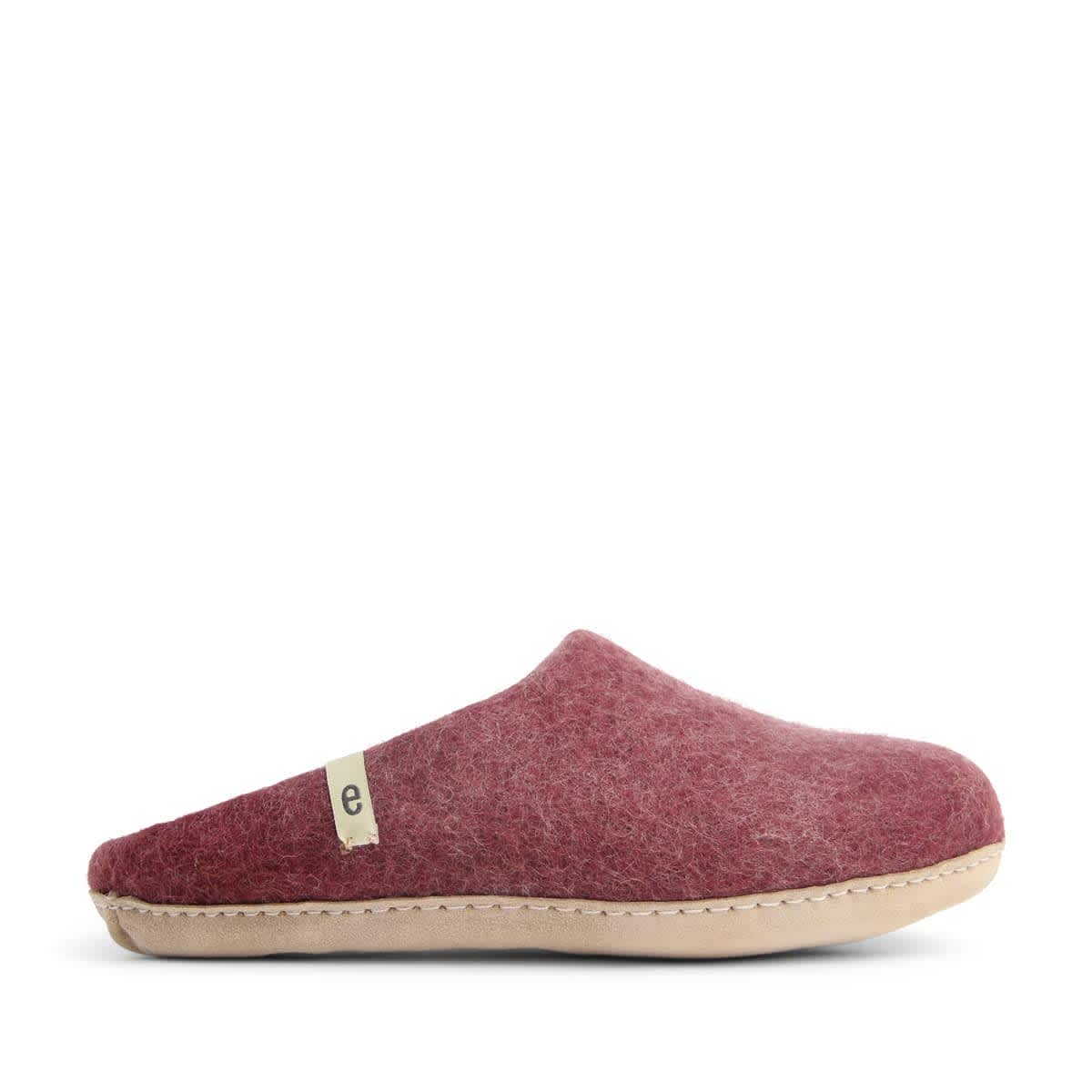 Egos Copenhagen Bordeaux Felted Wool Slippers