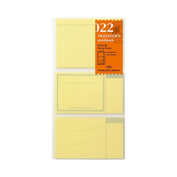 Traveler's Company Traveler's Notebook Refill 022 Sticky Notes - Regular Size