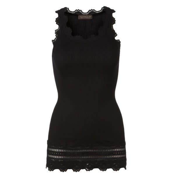 Rosemunde Black Benita Vintage Long Lace Vest