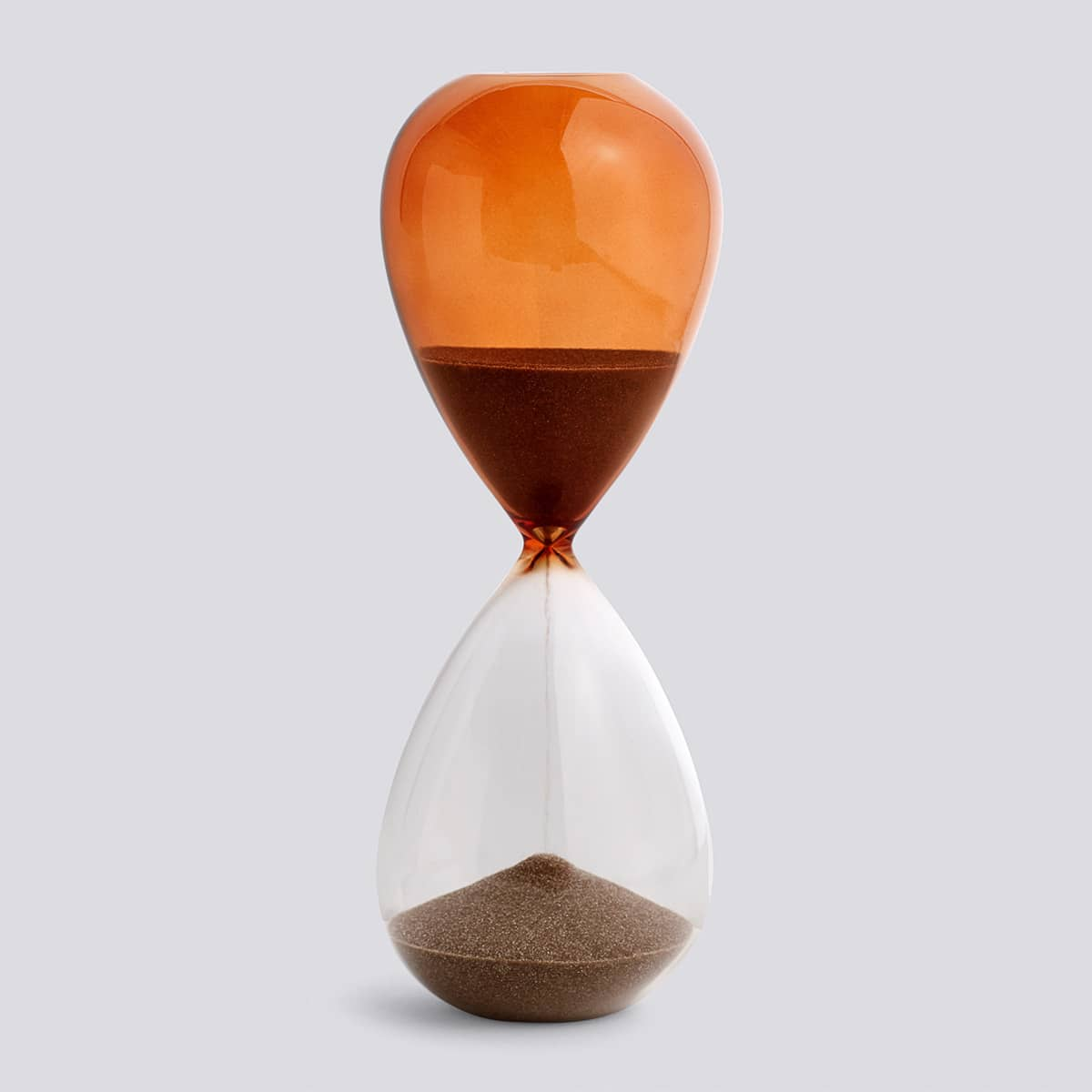 HAY Orange Large 30 Minutes Time Hourglass