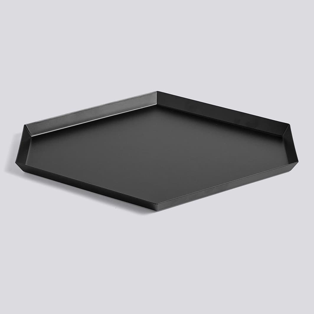 HAY Black Large Kaleido Tray