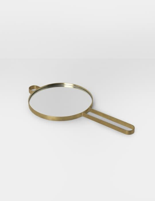 Ferm Living Brass Poise Hand Mirror