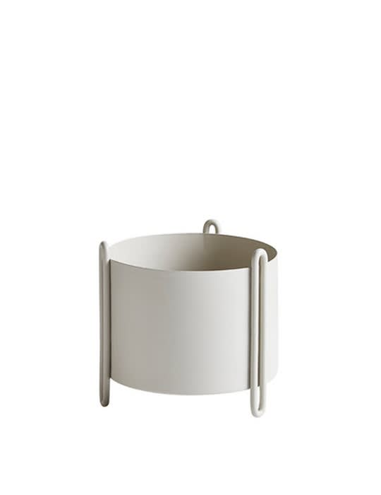 Woud Small Grey Pidestall Flowerpot