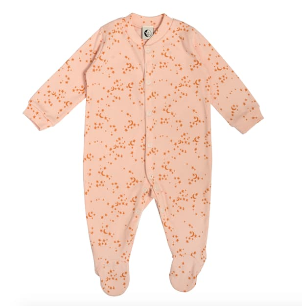 Sleepy Doe Morris Star Organic Cotton Baby Sleepsuit Babygrow