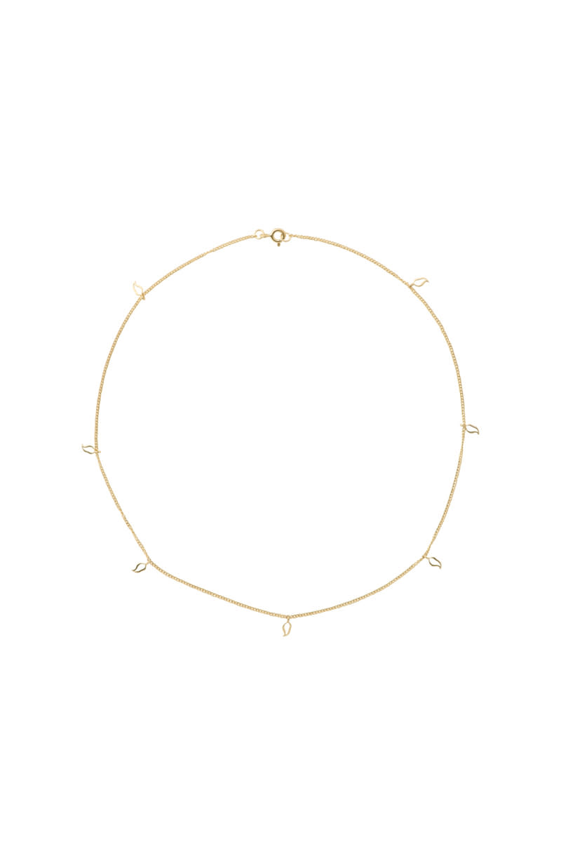 Anna + Nina Gold Plated Multi Flame Necklace