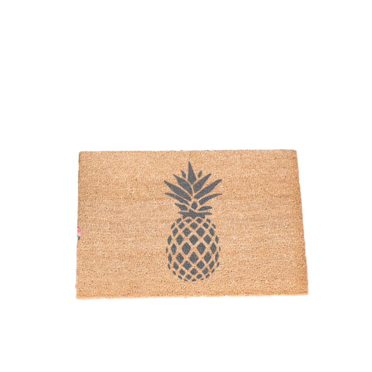 Artsy The Doormat Company Grey Pineapple Doormat