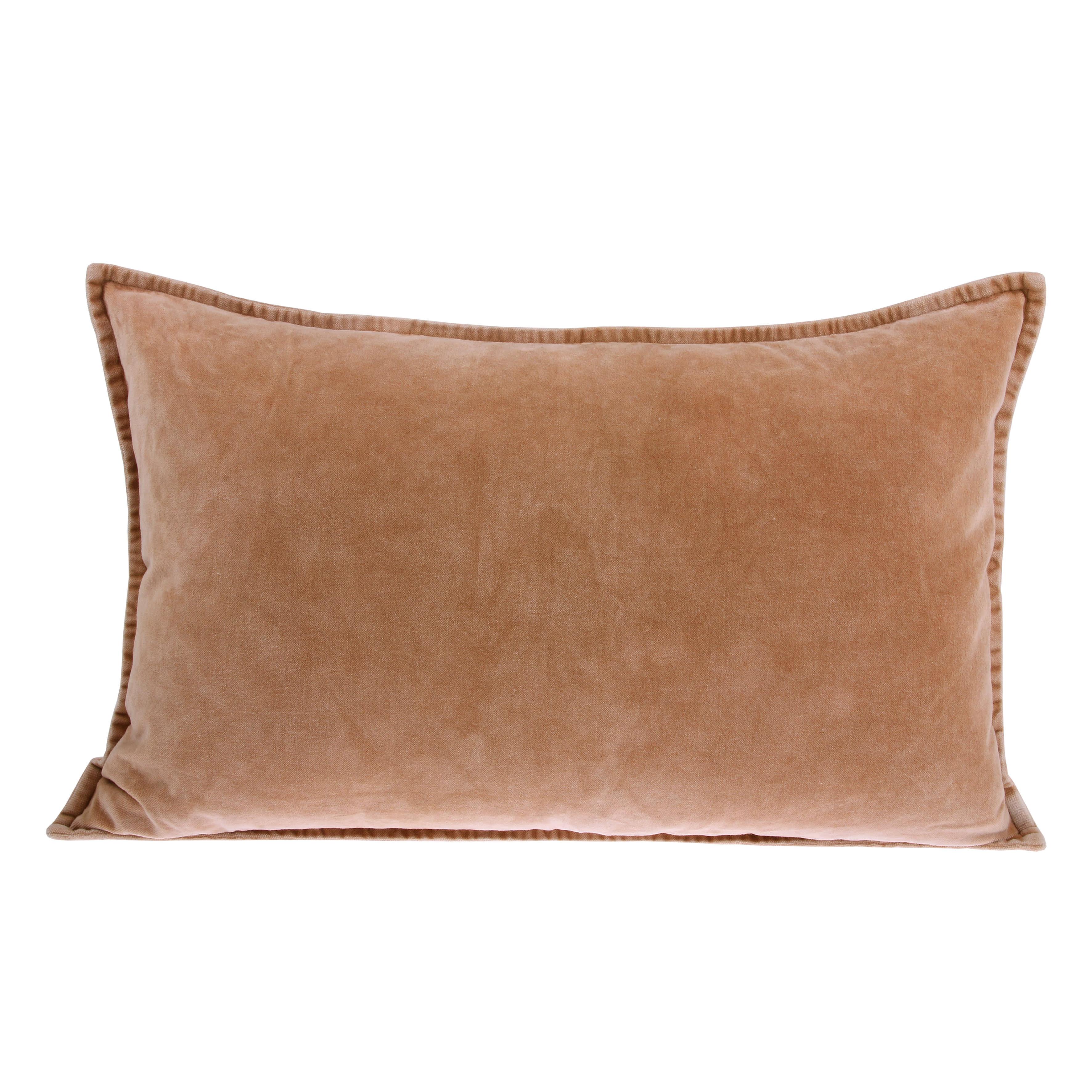 HK Living Velvet Rectangular Cushion in Taupe