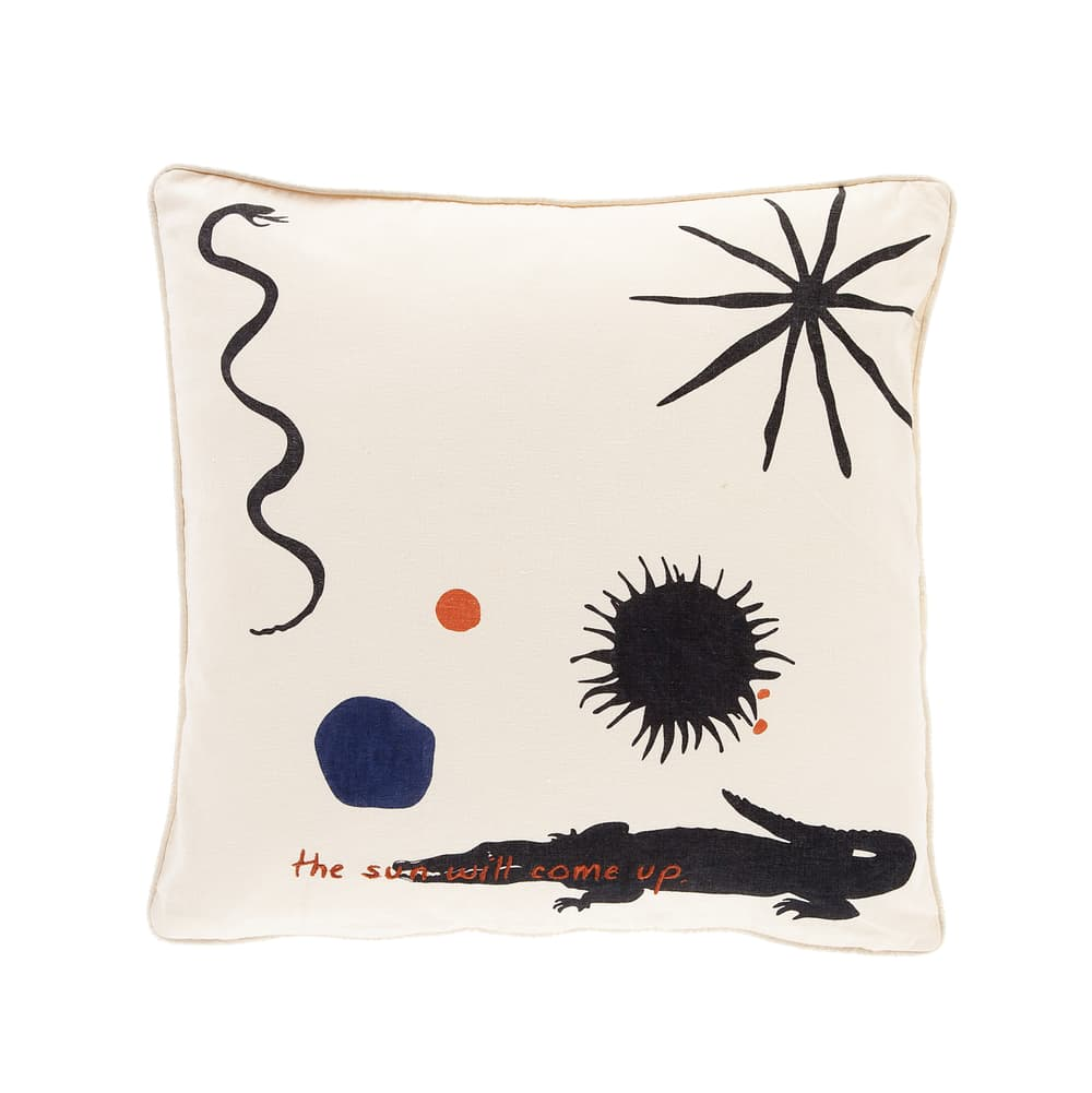 Anna + Nina The Sun Will Come Up Embroidered Pillow