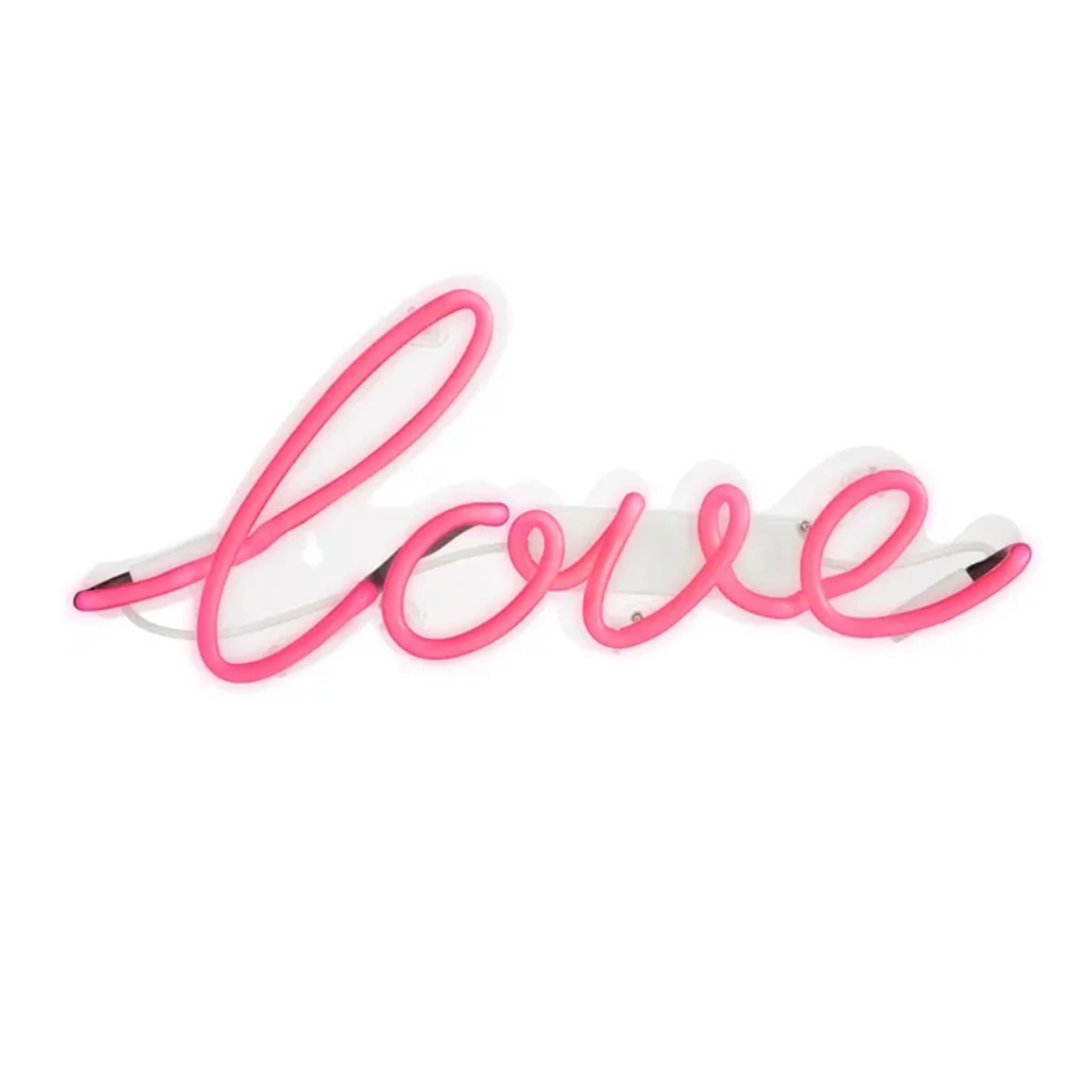 Talking Tables 'Love' Neon Pink Wall Light