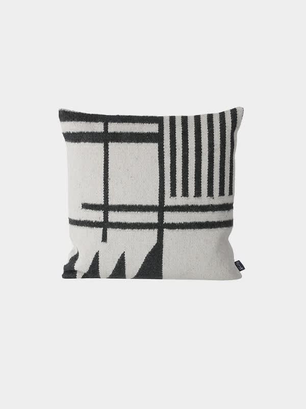 Ferm Living Black Lines Kelim Cushion