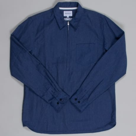 b1ffa6efeab Trouva  Norse Projects Indigo Hans Zip Mouline Shirt