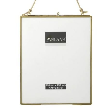 Trouva: Brass Double Sided Glass Frame – Large