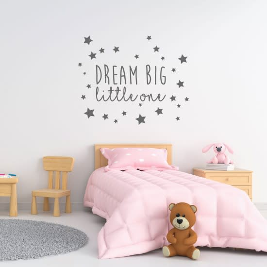 Dream big little one / wallsticker