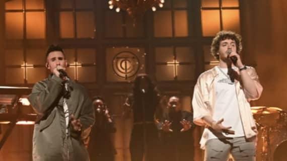 "Jack Harlow performs ""Same Guy"" on SNL"
