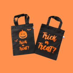 Halloween trick or treat fabric bags