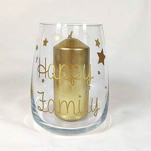 Candle holder happy family