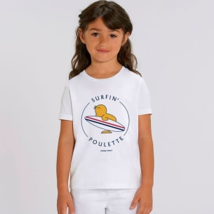 T-shirt Organic Surfin'Poulette