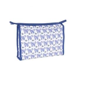 Trousse de toilette tigres bleu. Prénom à ajouter.