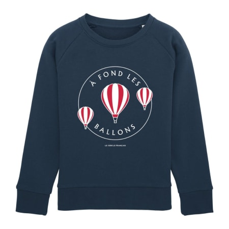 Sweat-shirt Kid Navy - A fond les ballons