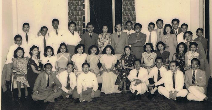 Ismail bin Abdul Rahman, pictured back row with his arms folded, with international students. Picture: Supplied