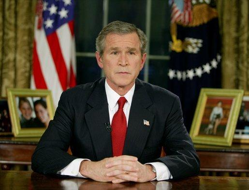 President George W. Bush relied on expert judgement about Weapons of Mass Destruction in his justification for the 2003 Iraq war. (Public Domain image).