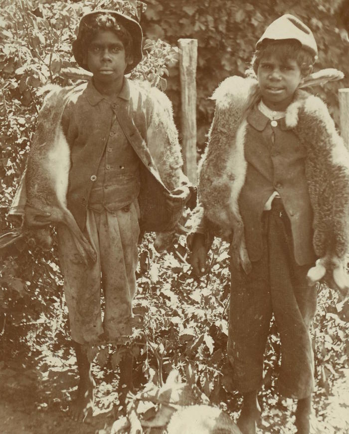 Albert Darbie and Alfie Stephens, c.1898. Strathfieldsaye Estate Collection (1976.0013), University of Melbourne Archives, PA.198 p.3 (Ramahyuck Album 8.4.3)