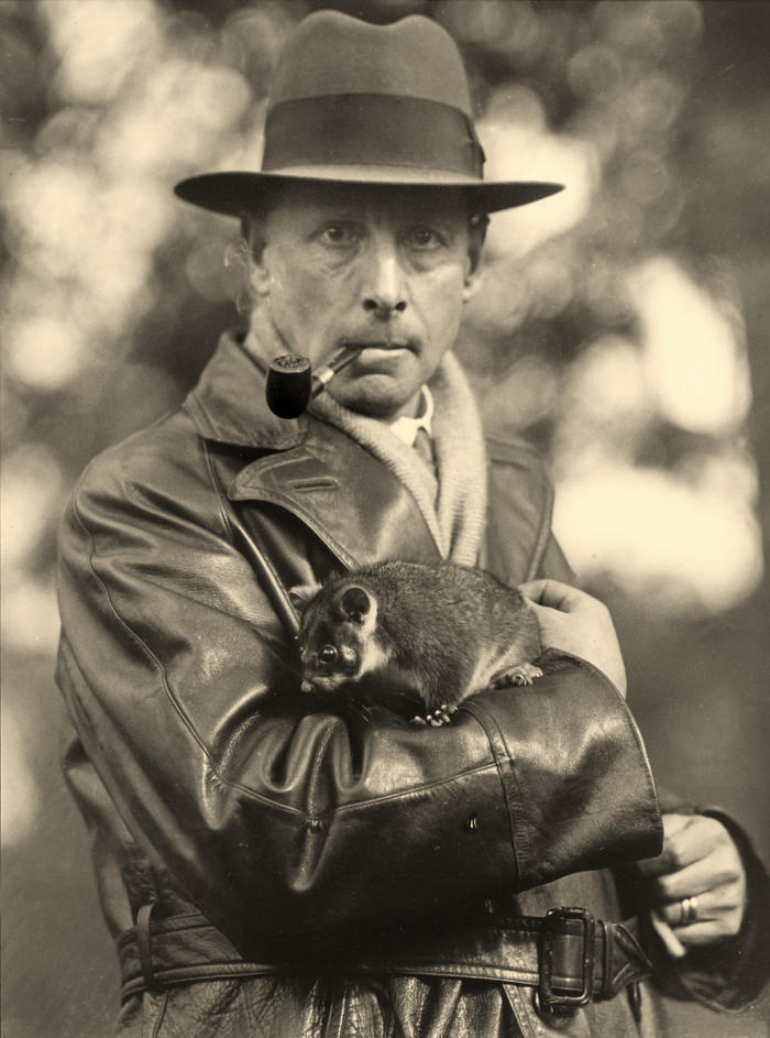 Not Indiana Jones, but Professor Frederic Wood Jones and friend, circa 1930. Picture: University of Melbourne.