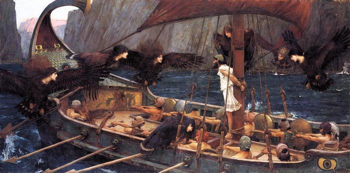<em>Western culture's tendency to associate pleasure with something suspicious or dangerous goes back to the Greek myths. Picture: Ulysses and the Sirens (1891) by John William Waterhouse, via Wikimedia Commons</em>