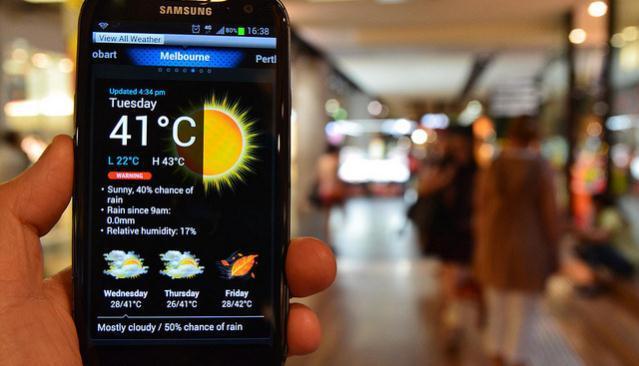 2015 looks set to smash 2014's record temperatures. Picture: Emergency Management Australia