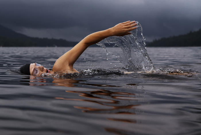 Cumulative exercise, such as swimming each day, has the best results later in life. Picture: Pexels