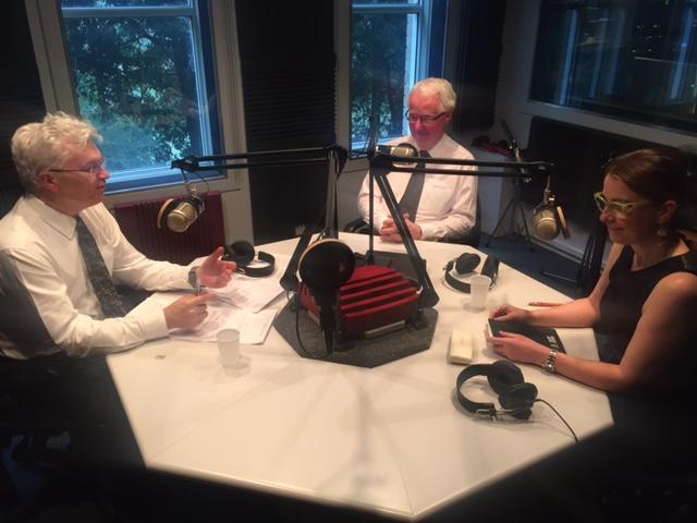 Professor Glyn Davis (l) with Terry Moran and Professor Helen Sullivan