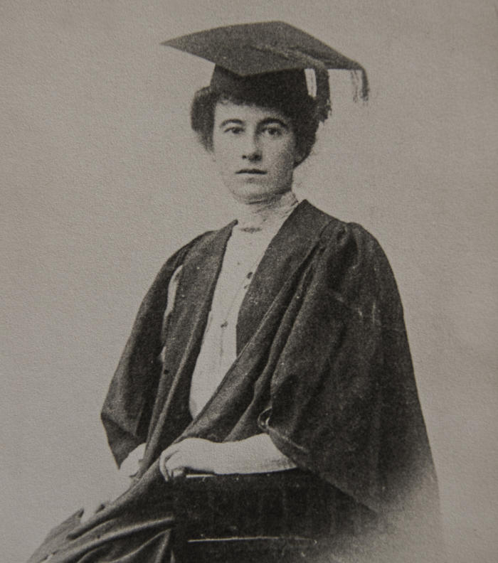 Dr Mary Glowrey's graduation day in December 1910. Picture: © Catholic Women's League of Victoria and Wagga Wagga. Used with permission.