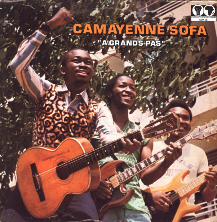 <strong>Camayenne Sofa.</strong> <strong><em>A grands pas, </em></strong>1976. CC BY (Attribution) 'Editions Syliphone, Conakry', under license from 'Syllart Records/Sterns Music.